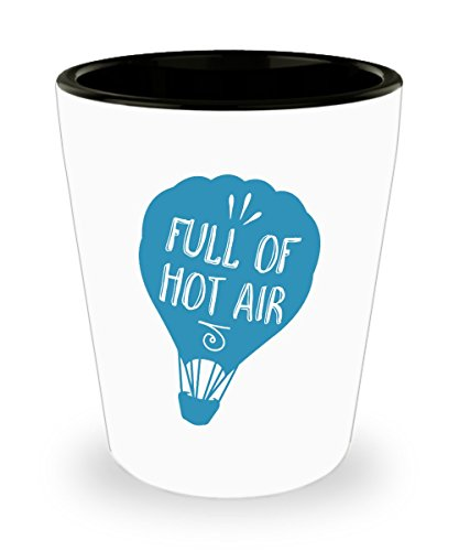 Funny Shot Glasses For Women - Full Of Hot Air Balloon Shot Glass - Gifts and Presents For Celebrations