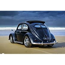 Laminated Splitty Volkswagen Beetle Poster 91.5x61cm