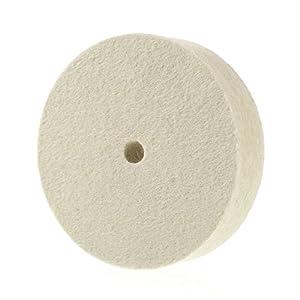 "Premium 4"" 100% Organic Wool Felt Polishing Buffing Wheel"