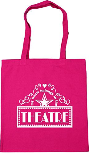 Theatre Gym Heart Belongs litres Beach Shopping 42cm Fuchsia Bag In 10 HippoWarehouse x38cm the Tote My wXgqX4p