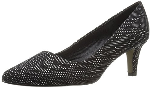 Easy Street Womens Pointe Dress Pump Black/Silver Texture WLFJZsrsHF