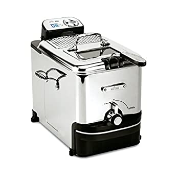 Image of Home and Kitchen All-Clad EJ814051 3.5 L Easy Clean Pro Stainless Steel Deep Fryer with Digital Timer and Adjustable temperature, Silver