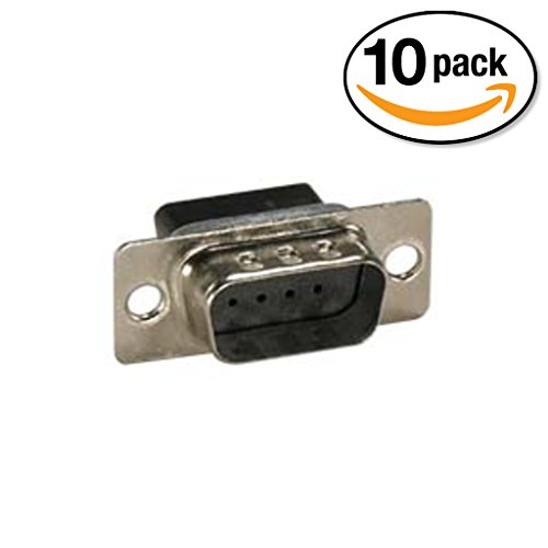 InstallerParts (10 Pack) DB9 Male Crimp Pin Connector