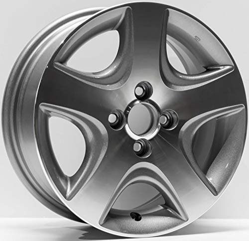 (Partsynergy Replacement For New Replica Aluminum Alloy Wheel Rim 15 Inch Fits 2004-2005 Honda Civic 4-102mm 5)