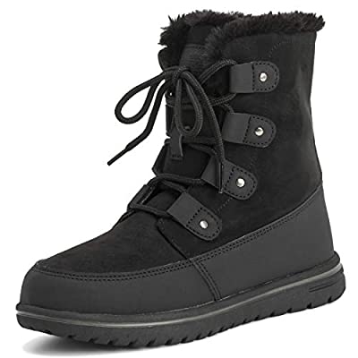Polar Womens Waterproof Durable Snow Winter Hiking Fleece Ankle Boots
