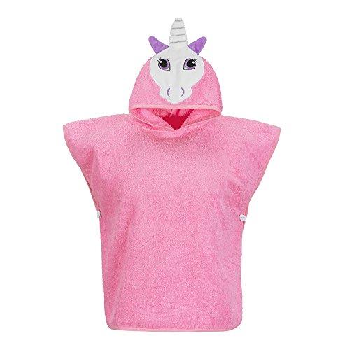 Hudz Kidz Hooded Towel for Kids & Toddlers, Ideal at Bath, Beach, Pool (Pink Unicorn)