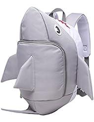Itopfox Lovely Cartoon Shark High Capacity Children School Bag Backpack