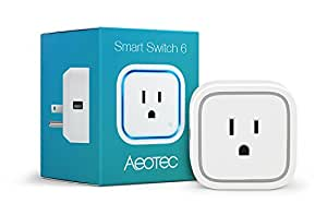 Aeotec Smart Switch 6, remote control smart plug, Z-Wave Plus, small size, side USB charging port, power metering