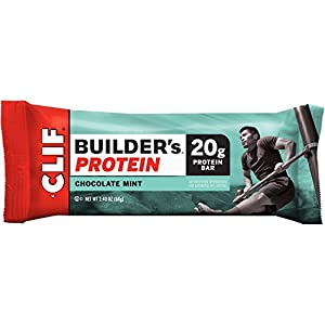CLIF BUILDER'S - Protein Bar - Chocolate Mint (2.4 Ounce Bar, 12 Count)