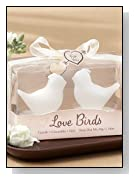 Love Birds White Bird Tea Candle Favor