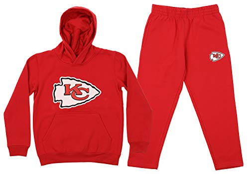 Outerstuff NFL Youth Team Color and Fleece Hoodie Set, Kansas City Chiefs Medium 10/12
