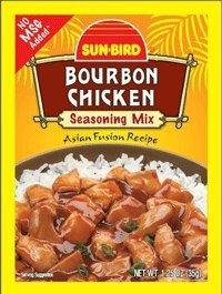 Sun-Bird Bourbon Chicken Seasoning Mix (1.25 oz Packets) 4 Pack