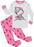 Dancing Little Girls Pajamas Christmas 100% Cotton 2 Piece Sets Kids Sleepwear PJs 3t