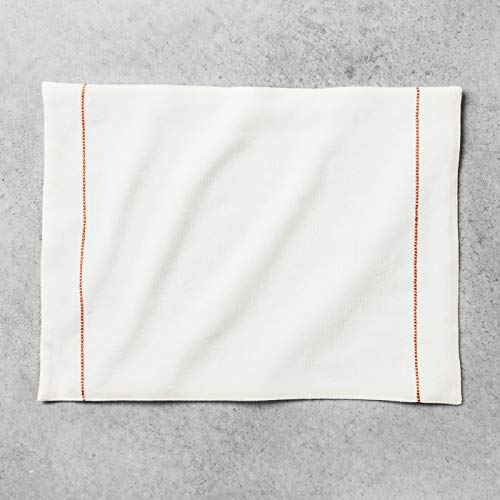 - Hearth and Hand with Magnolia Embroidered Placemat Cream/Coral Joanna Gaines Collection Limited Edition