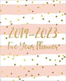 Five Year Planner 2019-2023: Monthly Schedule Organizer ...