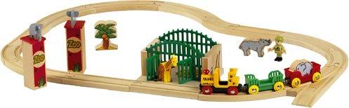 Brio 33053 Wooden Railway System Wooden Zoo Set Amazoncouk Toys