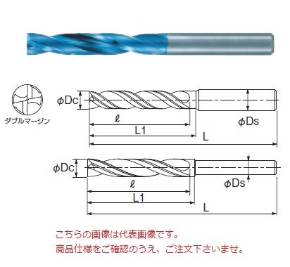 不二越(ナチ) 超硬ドリル AQDEXZR1850 (アクアドリル EX フラットレギュラ)  B075MW8M73