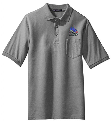 Central Empire State Express - NYC Empire State Express Embroidered Polo Ash Adult S [66]