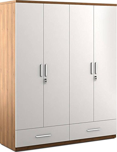 261ec51d6fe9d Hekami Interiors 4 Doors Wardrobe: Amazon.in: Home u0026 Kitchen
