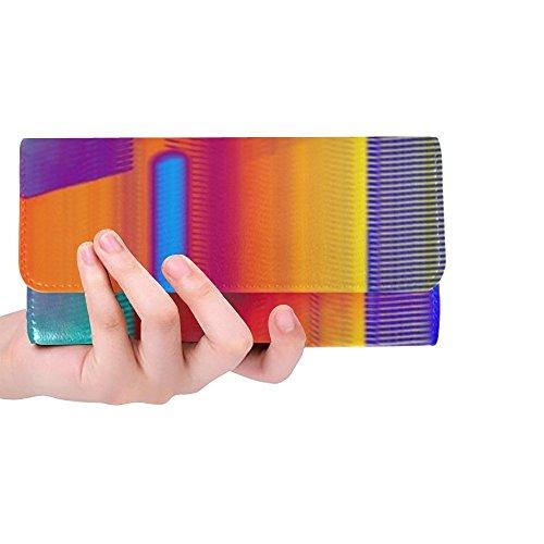 Unique Custom Glitch Noise Pixel Display Defect Computer Chaos Women Trifold Wallet Long Purse Credit Card Holder Case Handbag