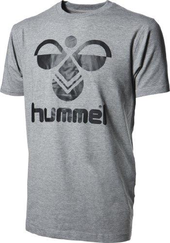 Hummel Herren T-Shirt Classic Bee, Grau(Grey Melange / Black), XL, 08-467-2069