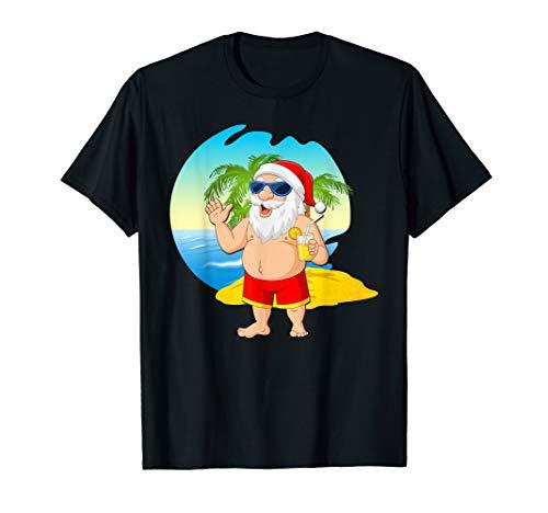 Christmas In July 2019 Santa Hawaiian Beach Summer