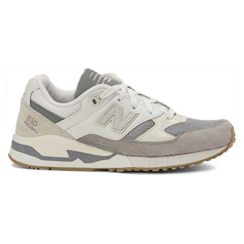 New Balance Womens W530 Classic Running Fashion Sneaker Acciaio / Bianco