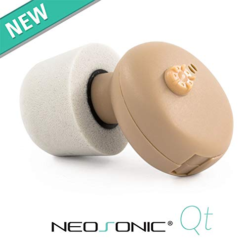 Neosonic Hearing Amplifiers Qt to Aid and Assist Hearing, Digital ITE CIC Sound Amplifier PSAP Nano Device for Adults, Fit Both Ears