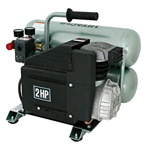 Hitachi EC12 14.5 amp 2-Horsepower 4-Gallon Oiled Twin Hot Dog Compressor