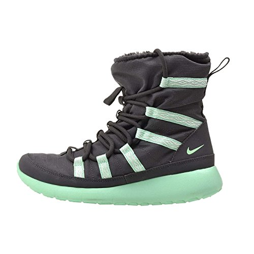 Nike 859414-002, Chaussures de Sport Femme Anthracite / Green Glow