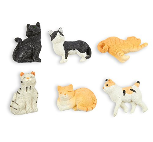 Set of 6 Cat Magnets - Funny Animal Refrigerator Magnets, Perfect Animal Lover Gifts (Dog Silhouette Magnet)