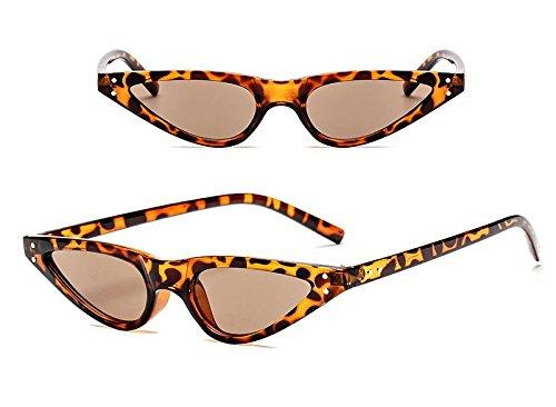 de Print de Black Gato Sol el Sol Sol Gafas Gafas Flujo Leopard de de Triangle Gafas Ojo Retro de Potencia qwPpgx4HB