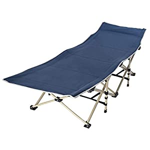 Folding Bed+Mat+Storage Bag, Indoor Guest Bed, Camping Office Comfortable Sleeping Bed for Adult Single Size