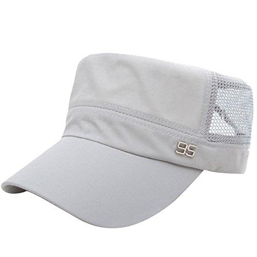 98214203c7132 Unisex Summer Flat Top Sun Hat Adjustable Breathable Quick Dry Sun Visor  Caps for Men Women