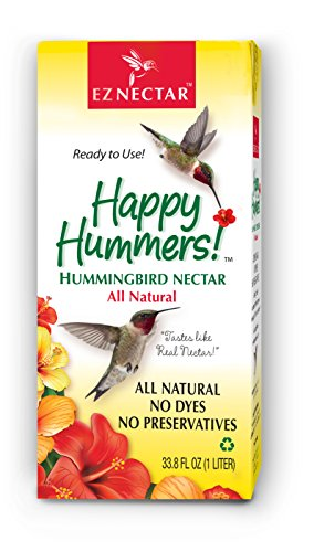 "EZNectar - The Only Ready-to-Use Hummingbird Nectar""Exactly Like Flower Nectar."" Patented, Preservative & Dye Free, Hummingbird Food - Nectar (1 Piece) 33.8 FL OZ TOTAL"