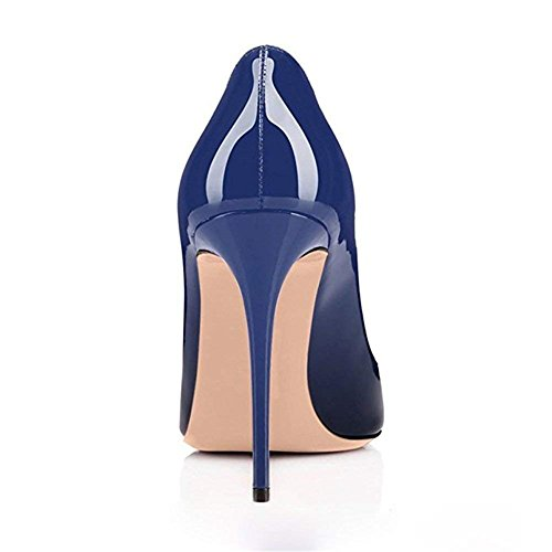 Pan Blue black Fête Rouge Semelle de Chaussures Robe Talon Bout Slip sur Pompes 10 Ro CM Femmes Caitlin Aiguille Haut Rond Sexy EscarpinsTalons HwqHARd