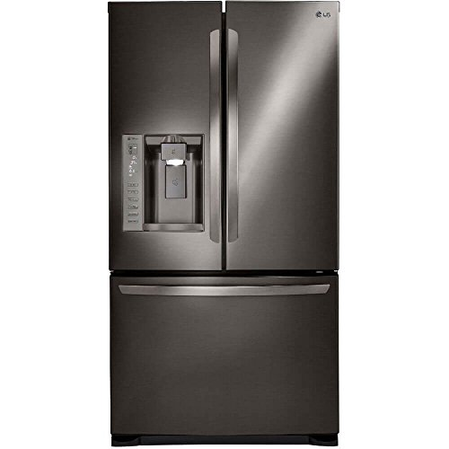 LG Stainless Steel 24 cu. ft. Ultra Capacity 3-Door French Door Refrigerator with Dual Ice Makers, Black