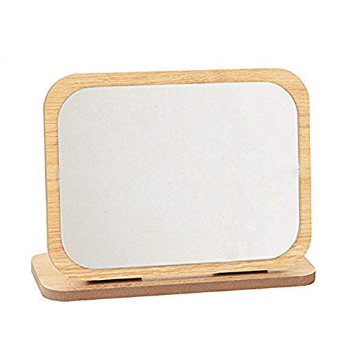 GOHIDE High Definition Cosmetic Mirror Wooden HD Makeup Mirror Simple Beauty Mirror Dressing Folding Simple Portable Large Desktop by GOHIDE (Image #9)