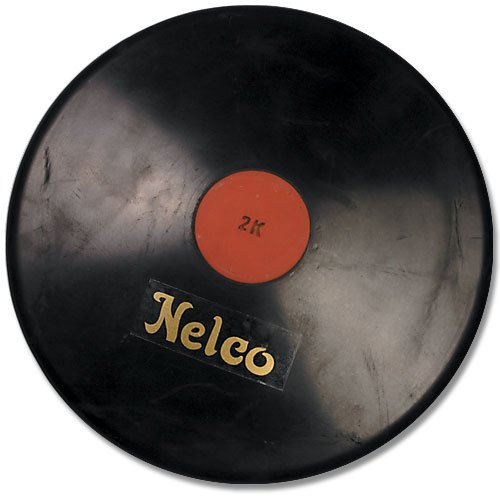 Nelco Official Black Rubber Discus