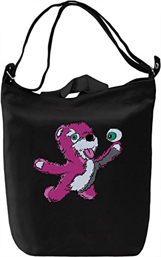 Breaking Bear Borsa Giornaliera Canvas Canvas Day Bag| 100% Premium Cotton Canvas| DTG Printing|