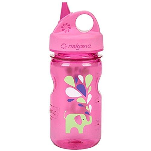 Nalgene Grip 'n Gulp Elephant Bottle, Pink