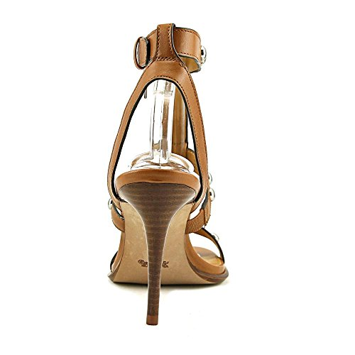 Semi Isabell II Matte Saddle Calf Casual Toe Open Strappy Leather Womens Coach Sandals SxCvq5wFvE