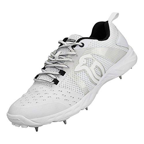 Kookaburra KCS 2000 Spike Cricket Schuhe - Senior Weiß schwarz