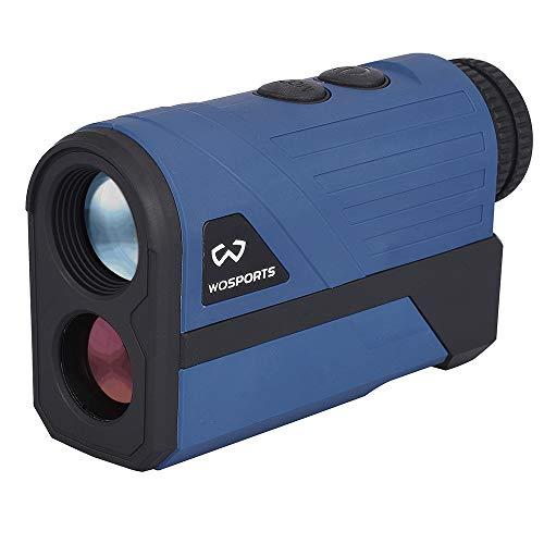 Wosports Golf Rangefinder, 650 Yards Laser Range Finder with Slope, Flag-Lock with Vibration Distance/Speed/Angle Measurement, Upgraded Battery Cover