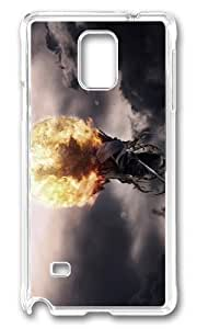Adorable grim reaper fire ball Hard Case Protective Shell Cell Phone HTC One M8 - PC Transparent