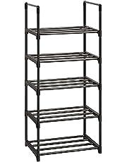 OYREL Shoe Rack, Sturdy Metal Shoe Rack Organizer,Narrow Shoe Rack,Shoe Racks for Closets,Shoes Rack,Shoe Stand,Shoe Shelf