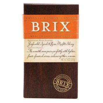 Brix Chocolate Bar for Wine, Medium Dark 8.0 OZ (Pack of 2)