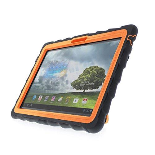 Gumdrop Cases Hideaway Stand for ASUS MeMO Pad Smart 10 Rugged Tablet Case Shock Absorbing Cover Black/Orange ME30