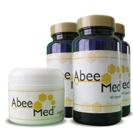 Abeemed Natural Apitherapy Bee Venom Therapy 3 bottles + free Cream