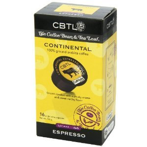 CBTL Continental Espresso Capsules - 100 Count by Coffee Bean & Tea Leaf